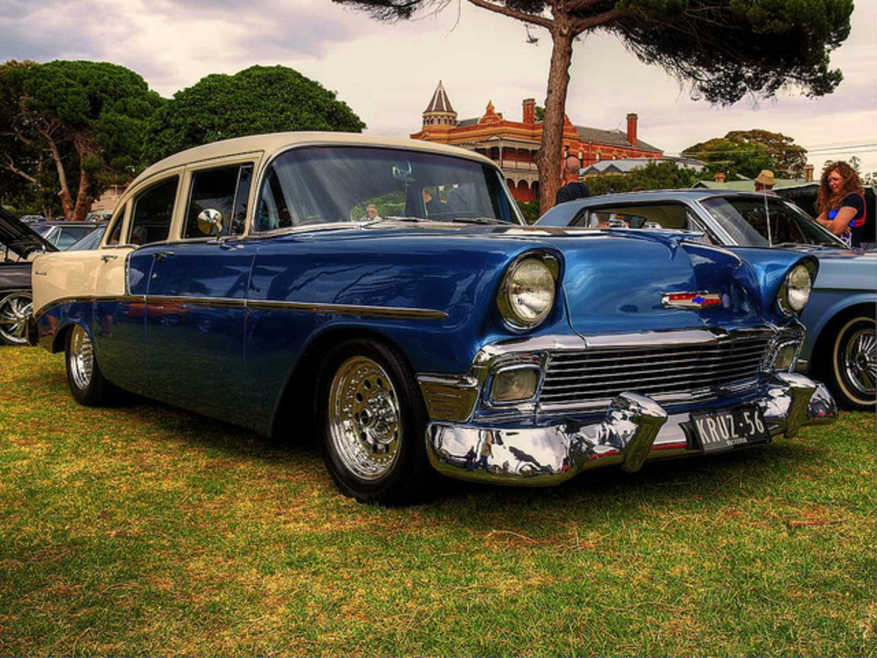 "1956 Chevrolet ""210"" Sedan by Michelle ~ BLACKY ~ CHAMPAZ'S PHOTOS."