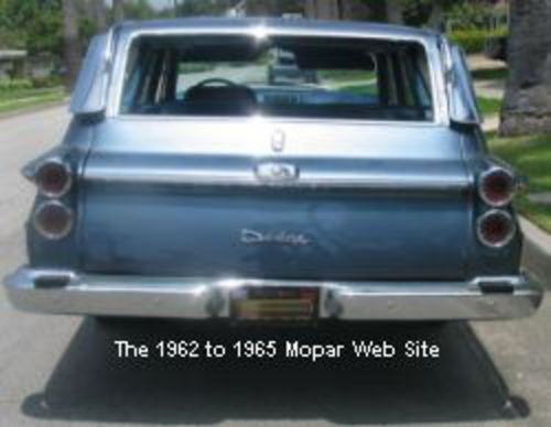 1962 Dodge Dart 440 Station Wagon, rear