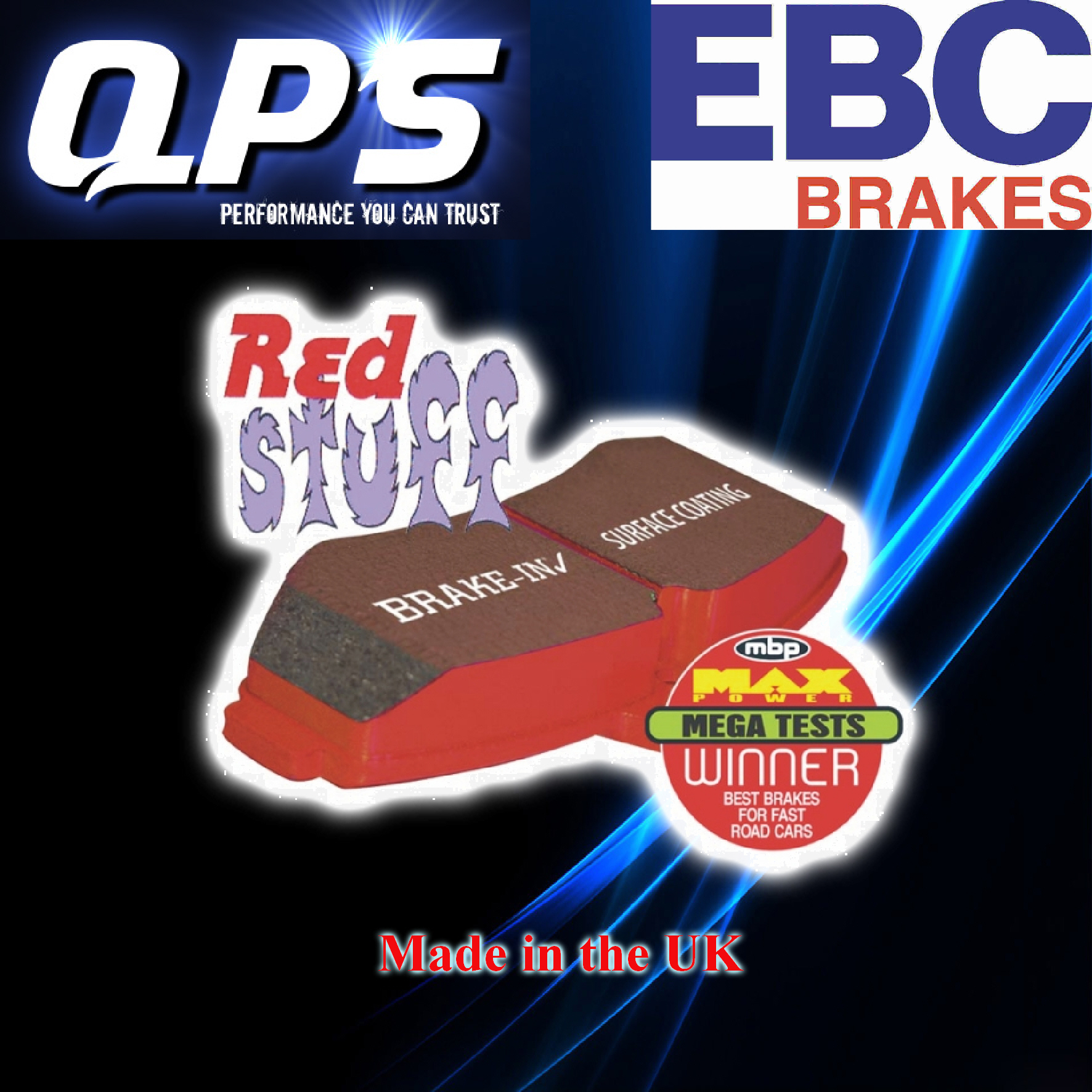 EBC Redstuff Front Brake Pads for BMW 535 xDrive 3.0 Twin TD GT (F07)