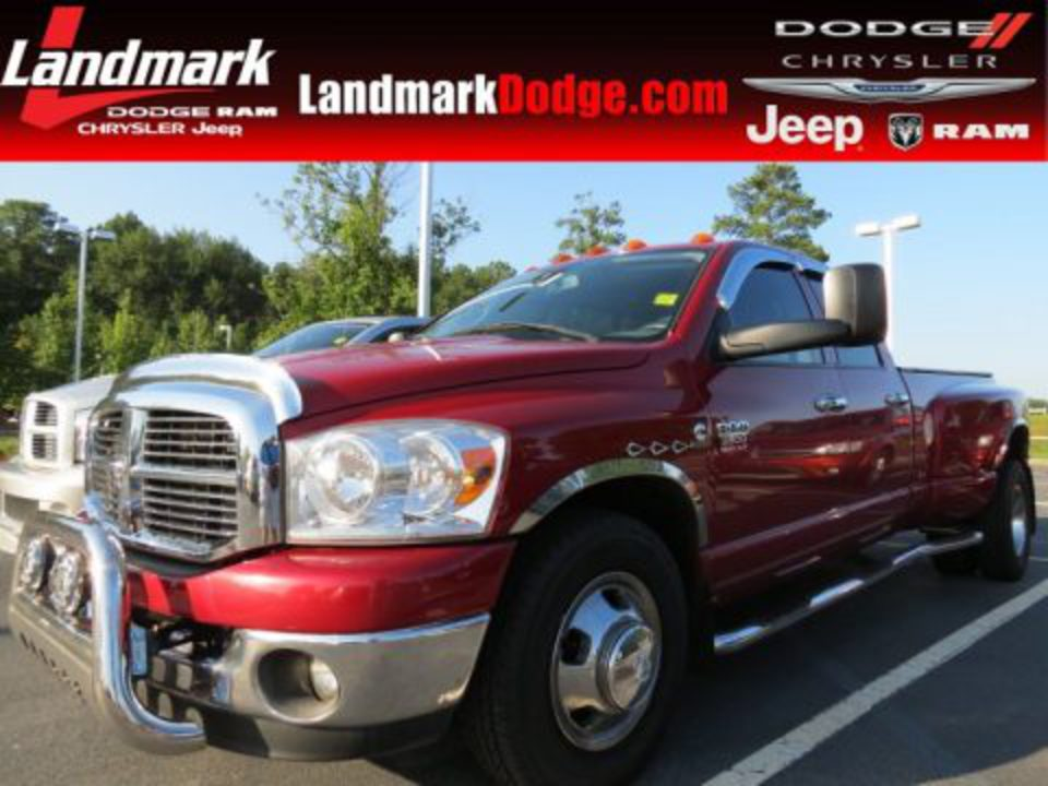 Inferno Red Crystal Pearl 2008 Dodge Ram 3500 Big Horn Edition Quad Cab