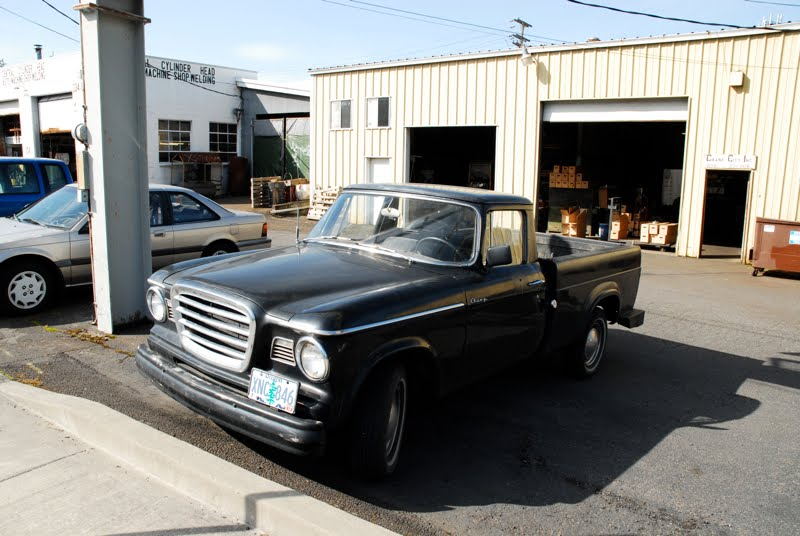 OLD PARKED CARS.: 1962 Studebaker Champ Spaceside Pickup.