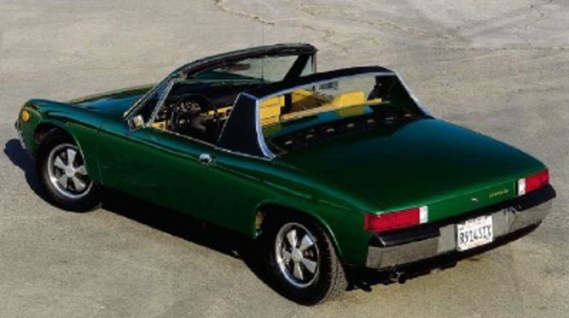 The Porsche 914's middle-engine configuration allowed for dual trunks.