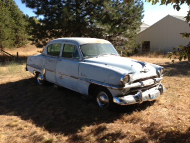 1954 Plymouth Savoy, 4dr sedan,89,507 miles, flathead 6cyl,second owner.