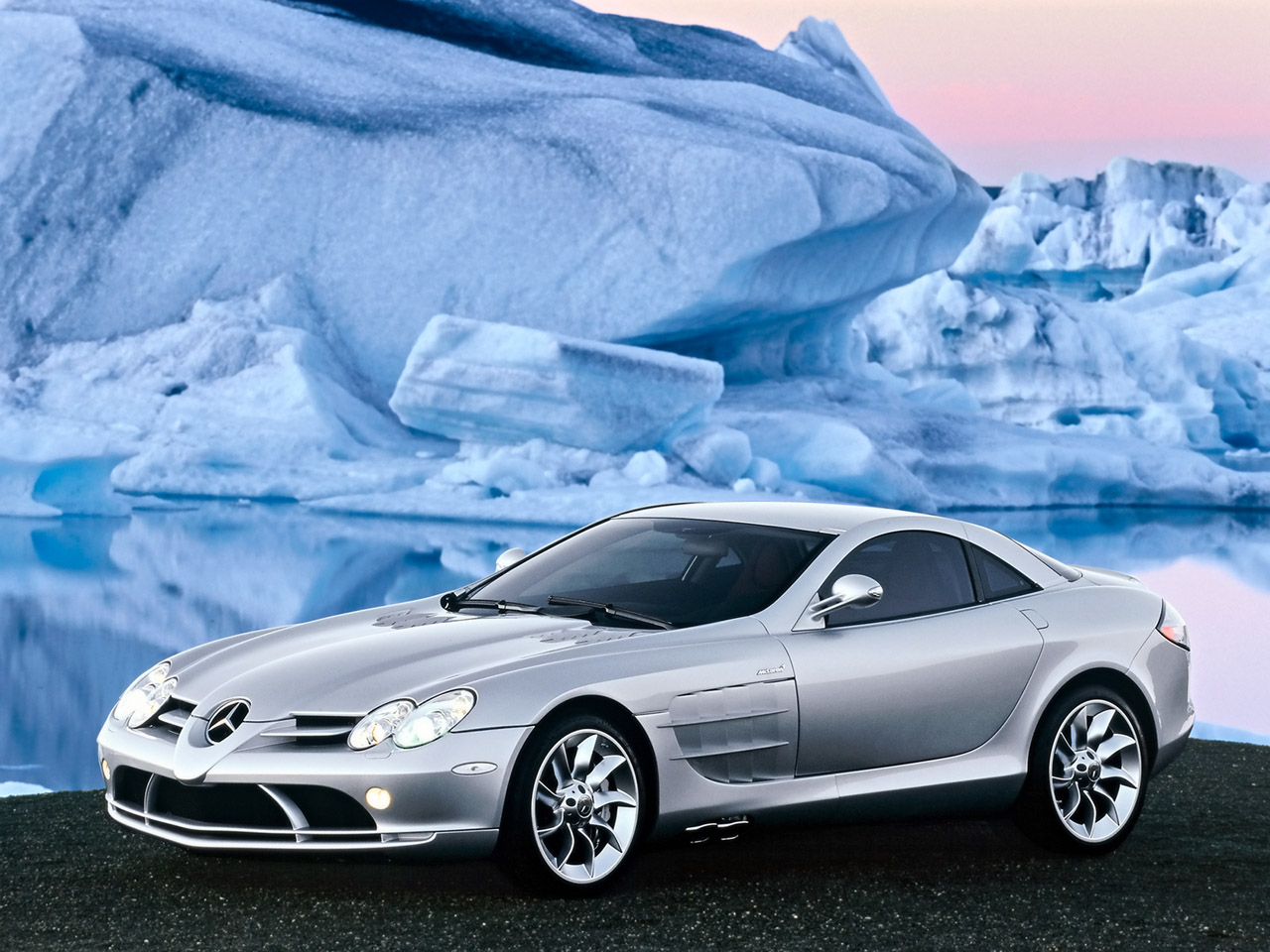 mercedes benz slr in silver