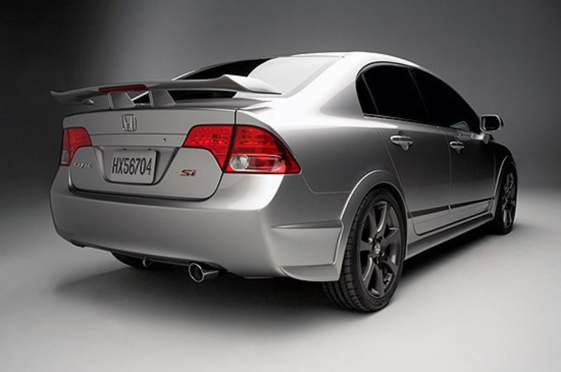 Honda Civic Si Sedan Concept A production vehicle based on the Civic Si