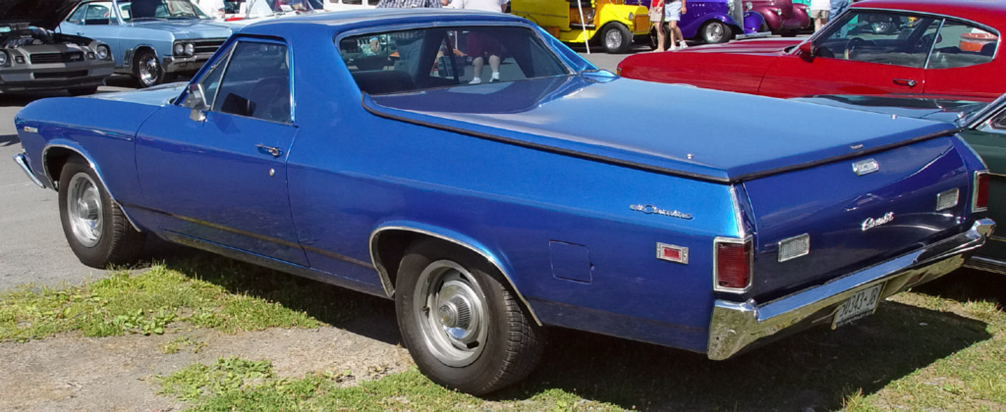 1969 Chevrolet El Camino - Blue - Rear Angle. Image Copyright Serious Wheels