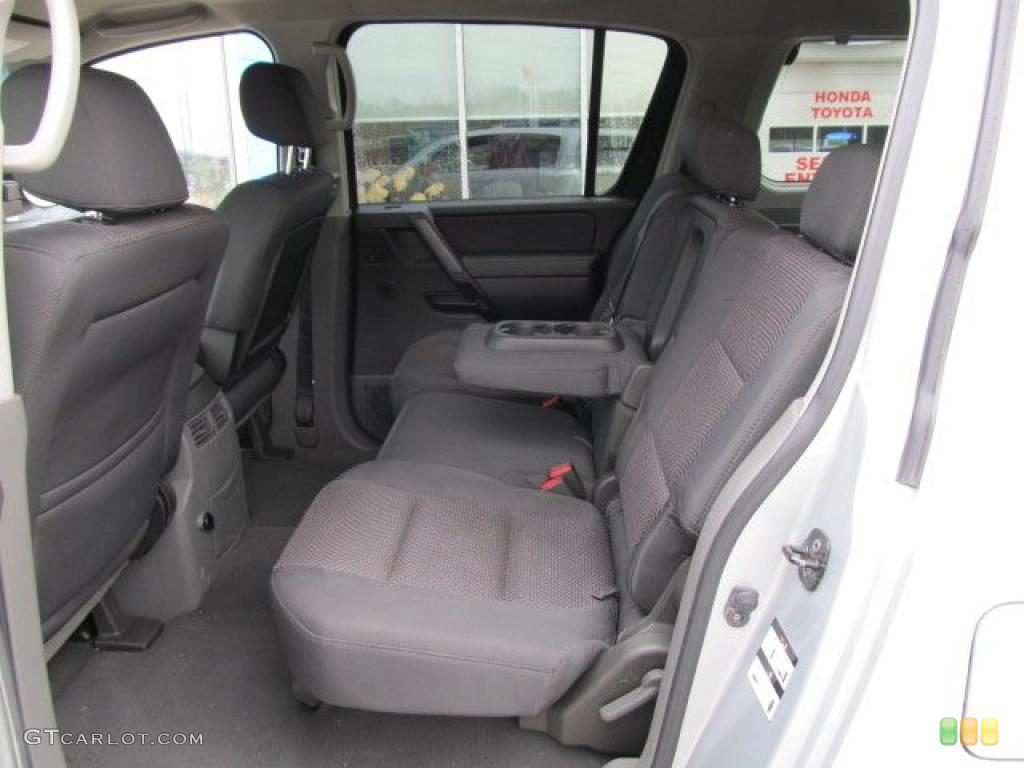 Steel/Titanium Interior 2007 Nissan Armada SE 4x4 Photo #47365367