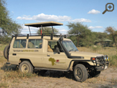 Equipment. The Toyota Land Cruiser is the ideal vehicle for long safari