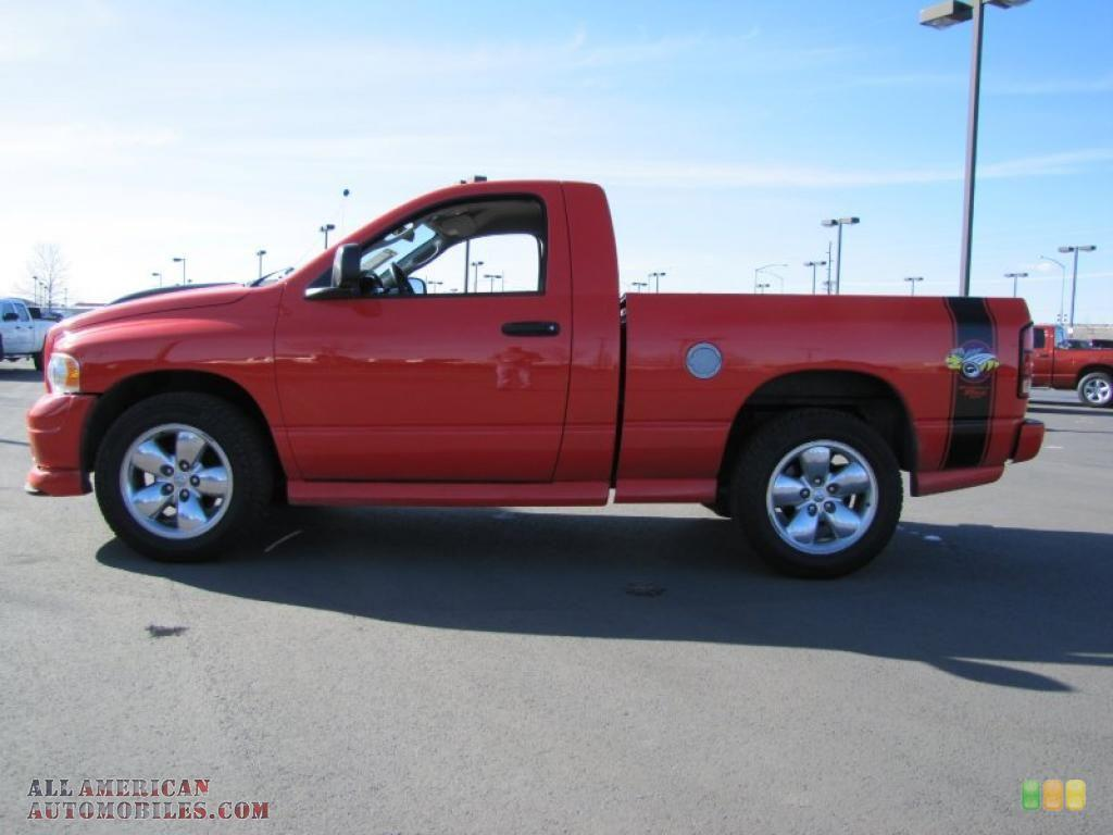 2005 Dodge Ram 1500 Slt Rumble Bee Regular Cab In Flame Red Photo 3 Edit and