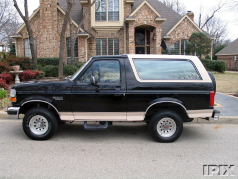 Right now its a completely stock 93 Ford Bronco Eddie Bauer Edition and its