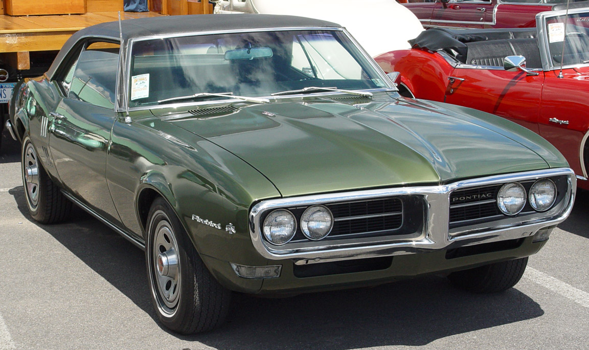 1968 Pontiac Firebird Coupe - Olive - Front Angle