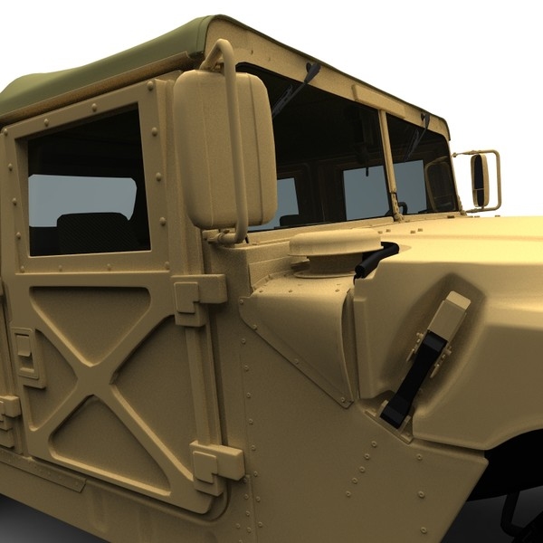 3d model hmmwv generation jeep