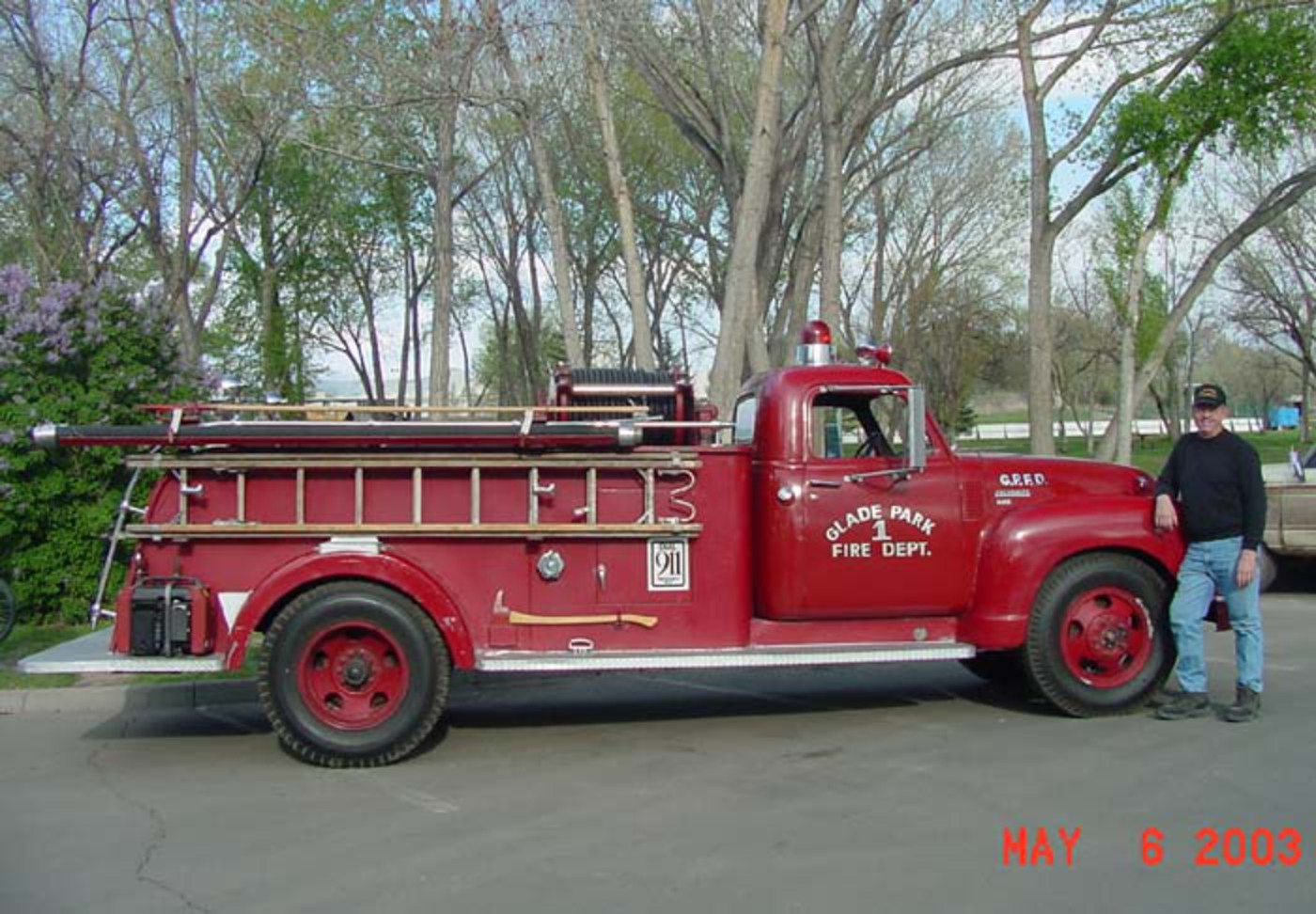 George's 1949 Chevrolet Fire Truck.