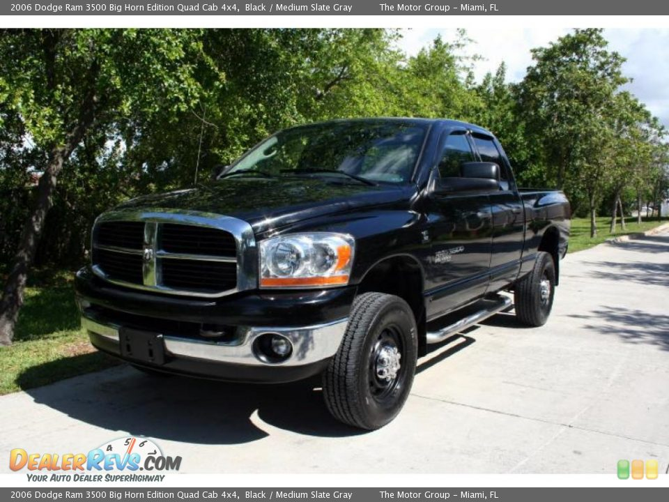 2006 Dodge Ram 3500 Big Horn Edition Quad Cab 4x4 Black / Medium Slate Gray