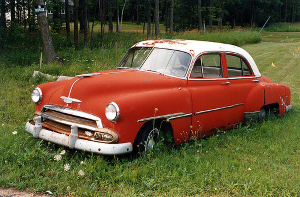 1952 Chevrolet Styleline Deluxe 4-Door Sedan (1 of 2) by myoldpostcards