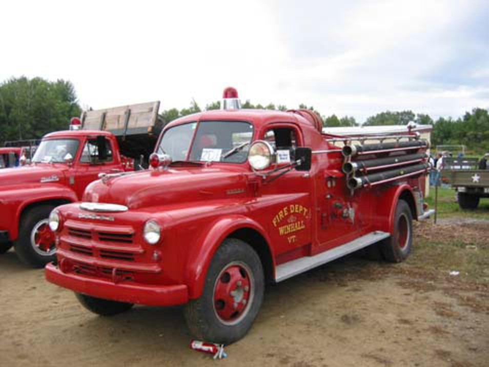 1948 Oldsmobile, and 1948 Dodge Fire Truck