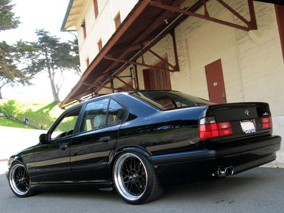 Weksos Industries BMW 525i (E34) on WORK Brombacher Special Edition in Matte