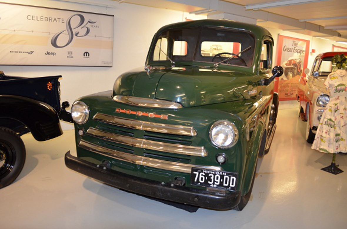 "Ram Truck Heritage | 1949 Dodge Half-Ton Pickup with ""Pilot House"" Cab"