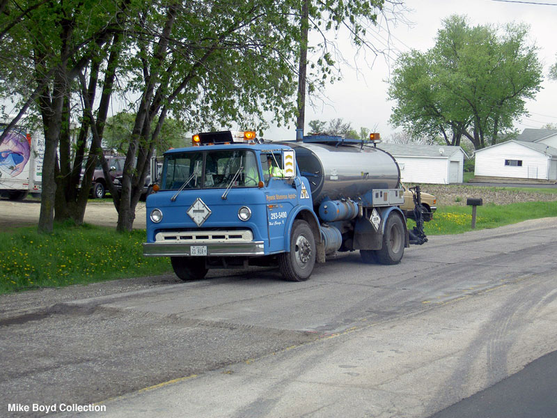 Pyramid Asphalt still uses this old Ford C-8000 for there road work.