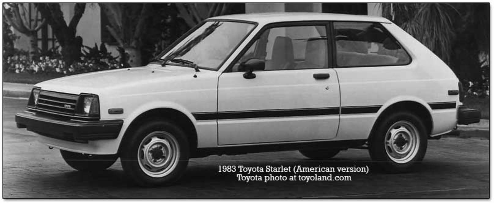 toyota starlet. In 1983, the American version of the Starlet increased its