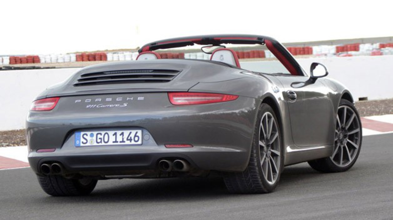 2012 Porsche 911 Cabriolet rear 3/4 view. In every other way, though,