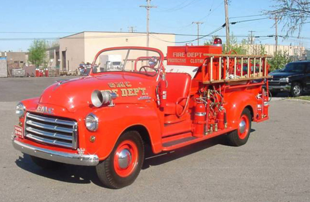 This particular fire truck was part of the Pontiac, Michigan GMC Truck Plant