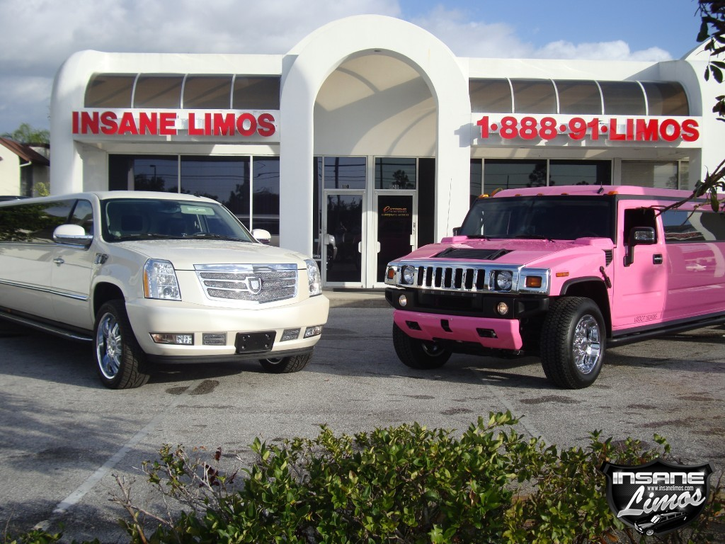 Florida's first and only Pink Hummer H2 Limo