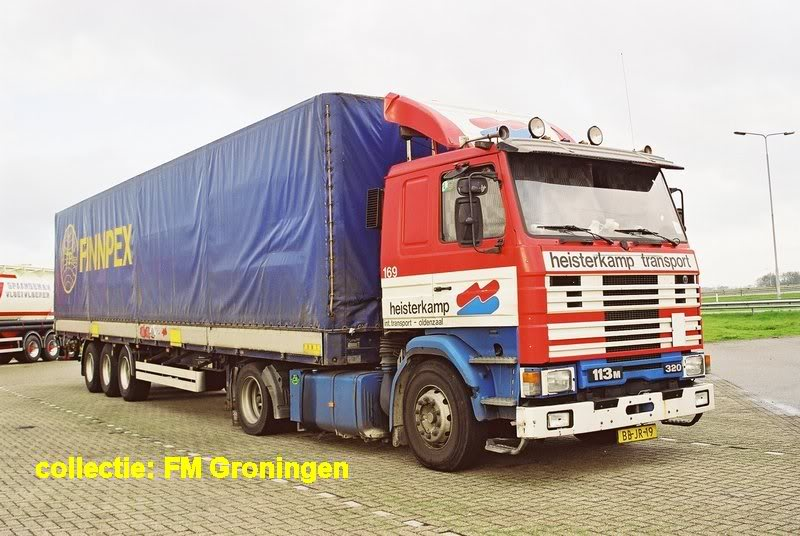Scania 113M 320 with an Pacton trailer from Finpex before Frans Maas Finland