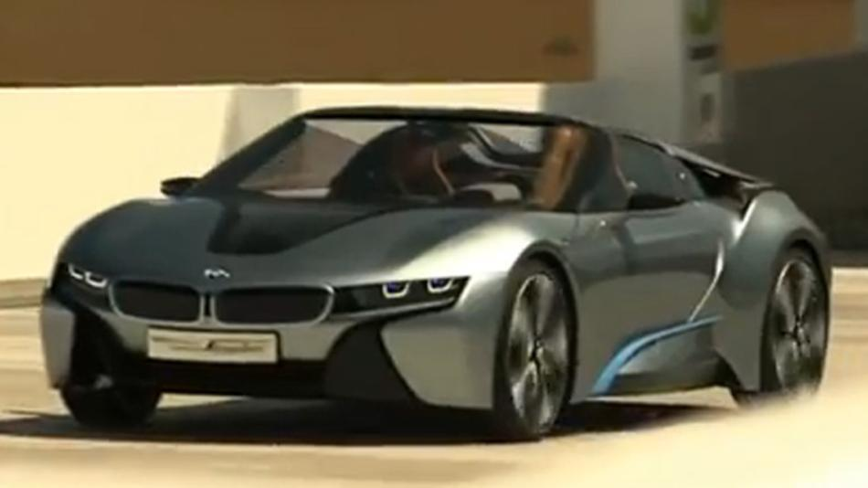 We did not expect to see footage of BMW's latest hybrid concept car,