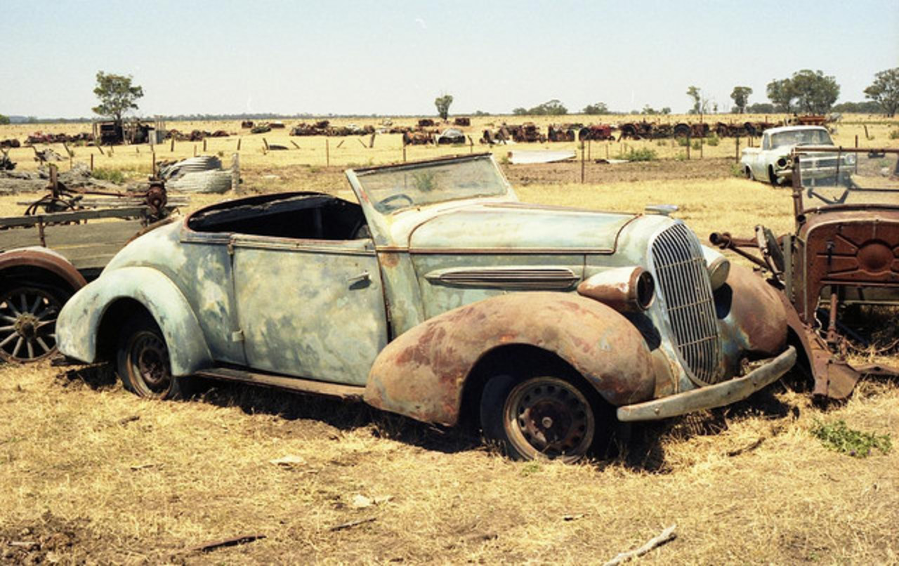 My 1935 Oldsmobile F.35 Roadster as I found it in 1988.