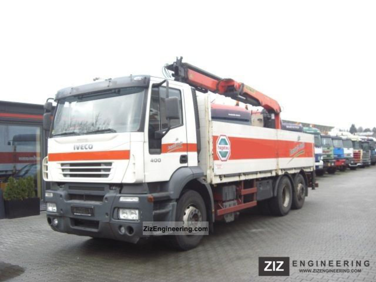 Iveco Stralis 400 6x2 building materials Palfinger 16000L 2005 Truck-mounted