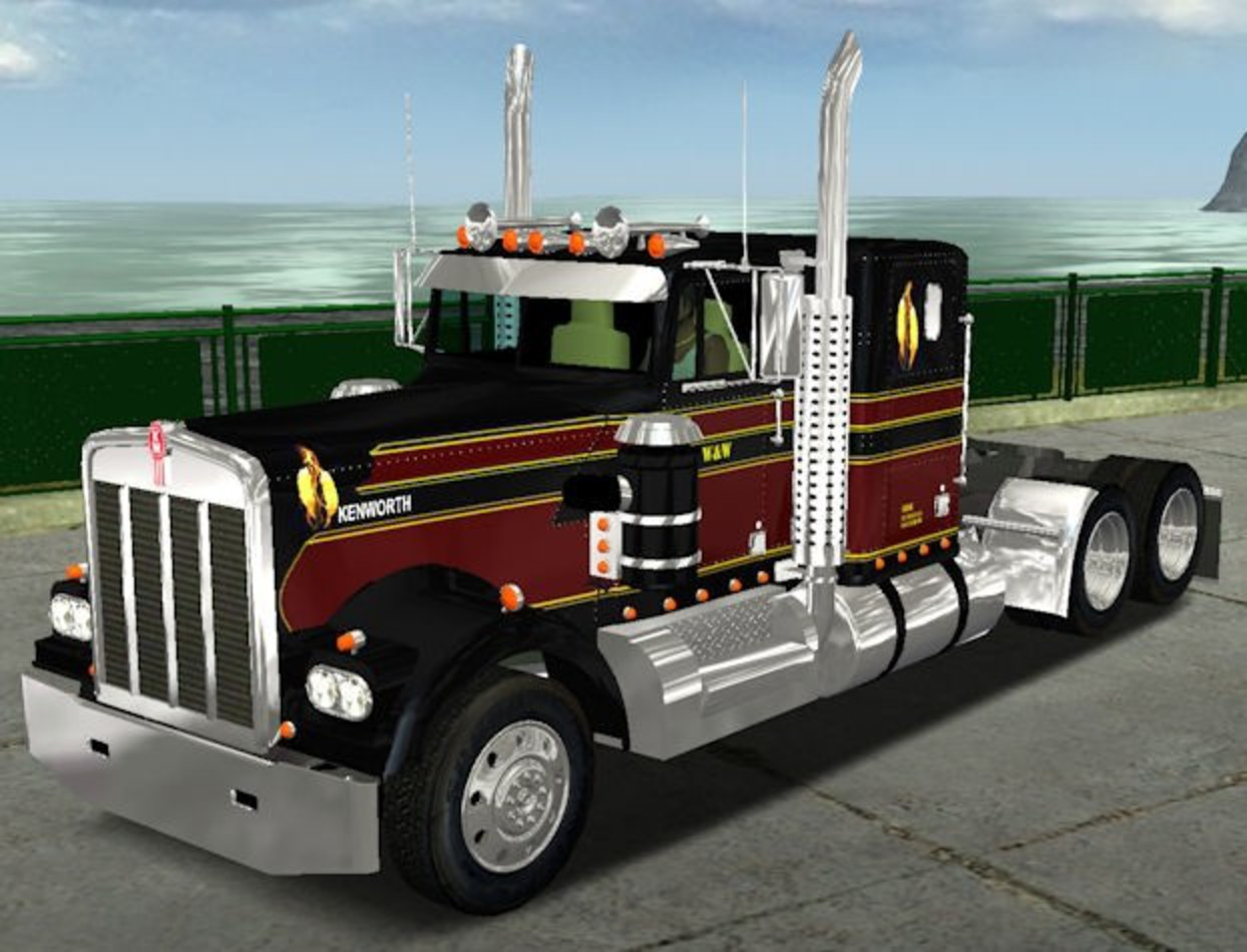 Kenworth W900a stock 18 WOS Trucks - Gamemoding.