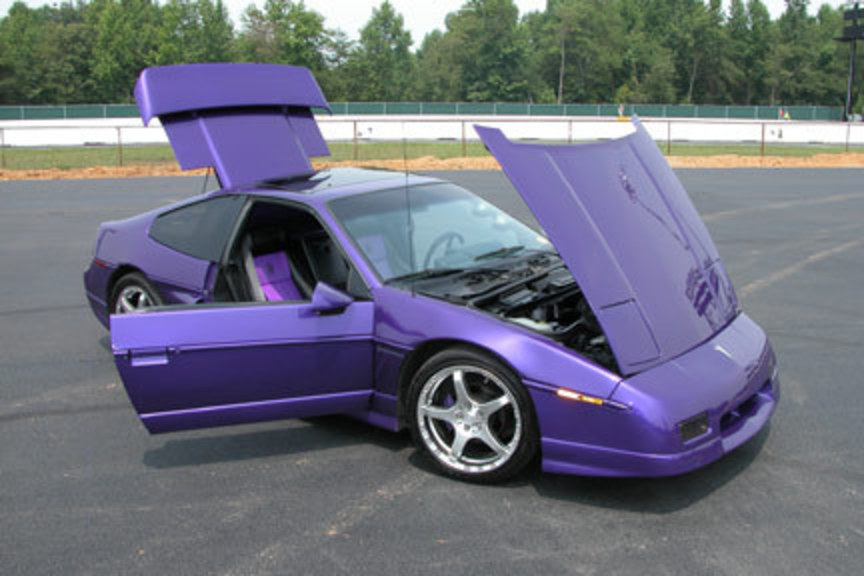 SUPERCHARGED 3800 V6 1988 PONTIAC FIERO GT old look: