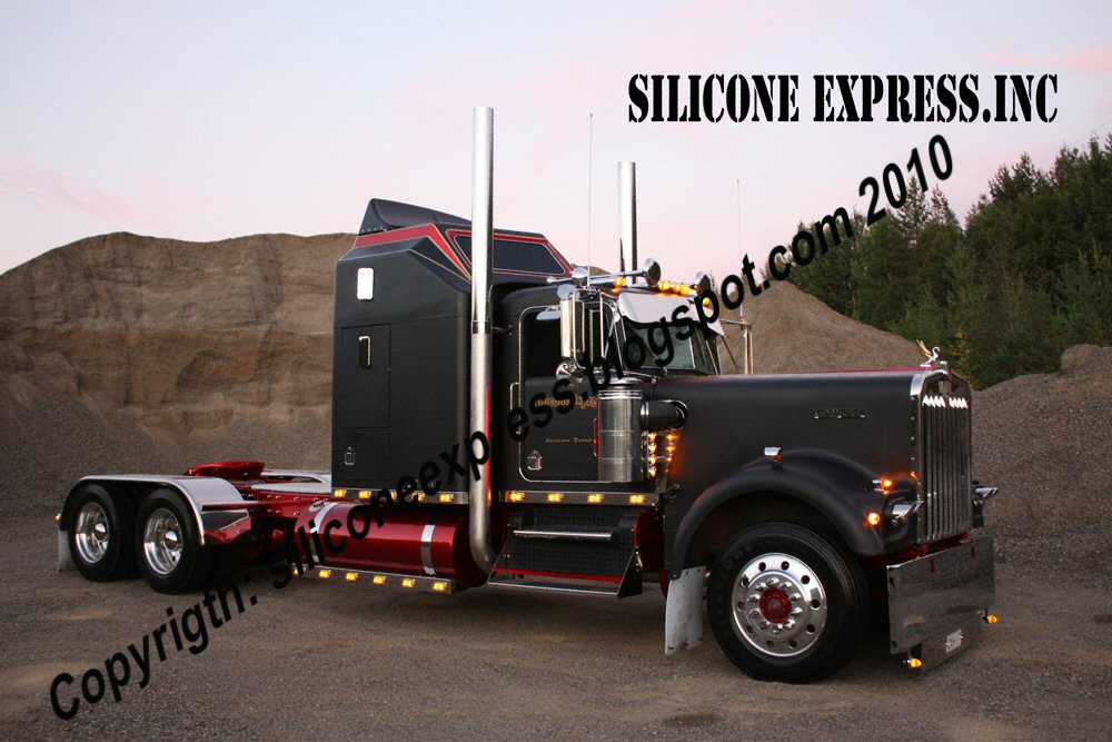Silicone Express: Kenworth W900A EXHD Truck Postcard!!!