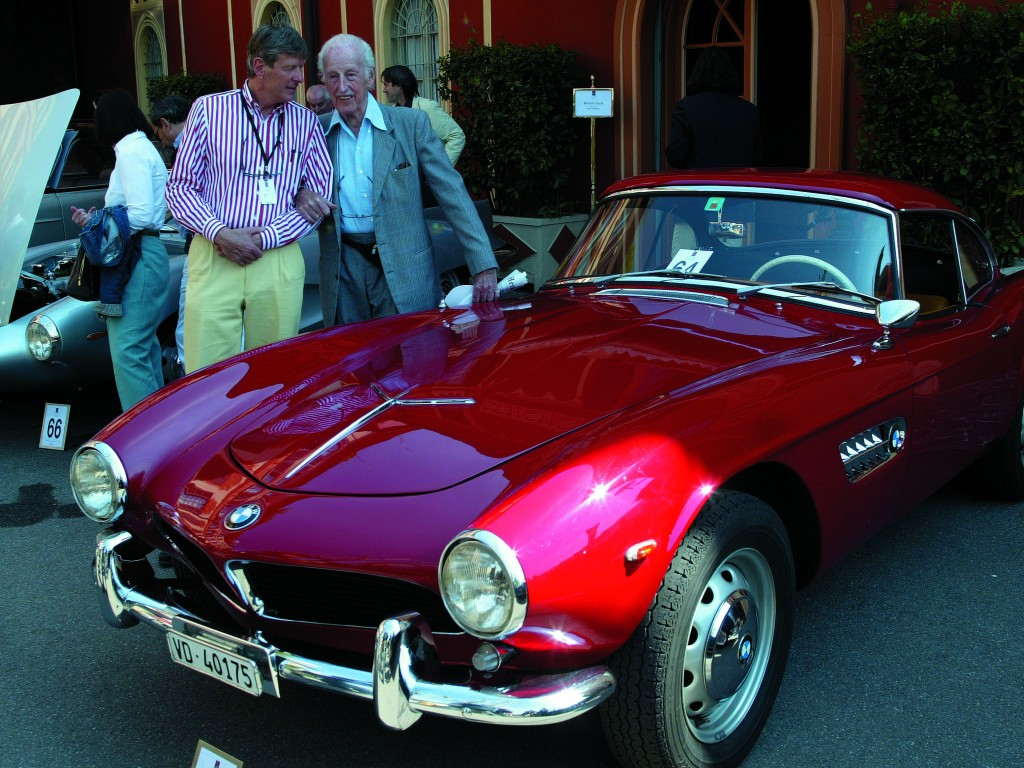 BMW 507 Roadster and its designer, Albrecht Graf von Goertz
