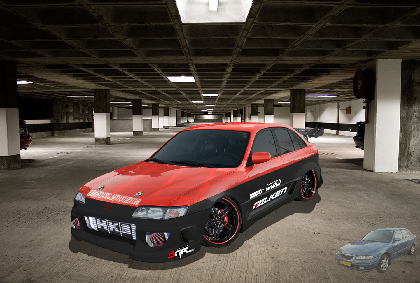 Mazda 626 glx Virtual tuning by *Khristian05 on deviantART