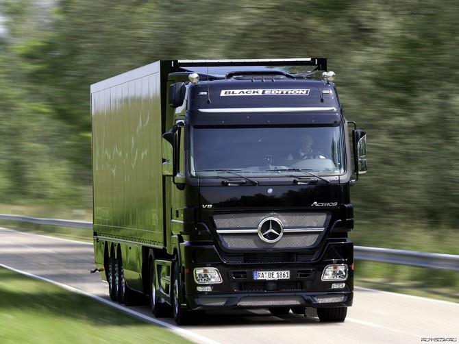 Mercedes-Benz Actros 1861 Black Edition. View Download Wallpaper. 670x502