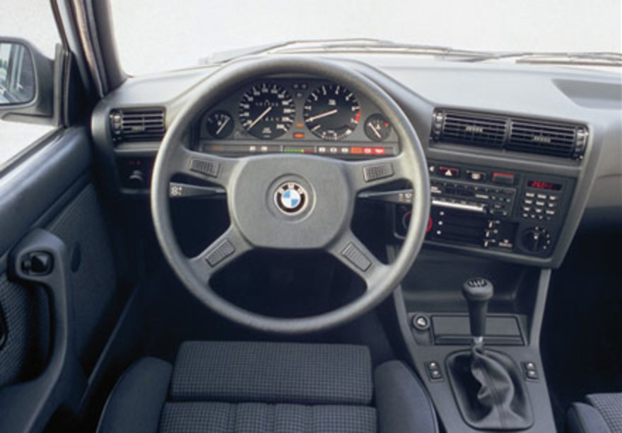 BMW 318i dash. This was the car I have driven the fastest in.