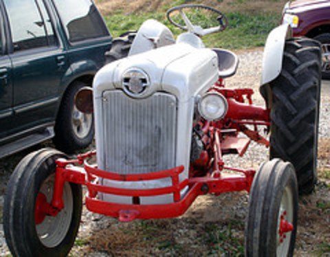 The tractor is a Ford 600
