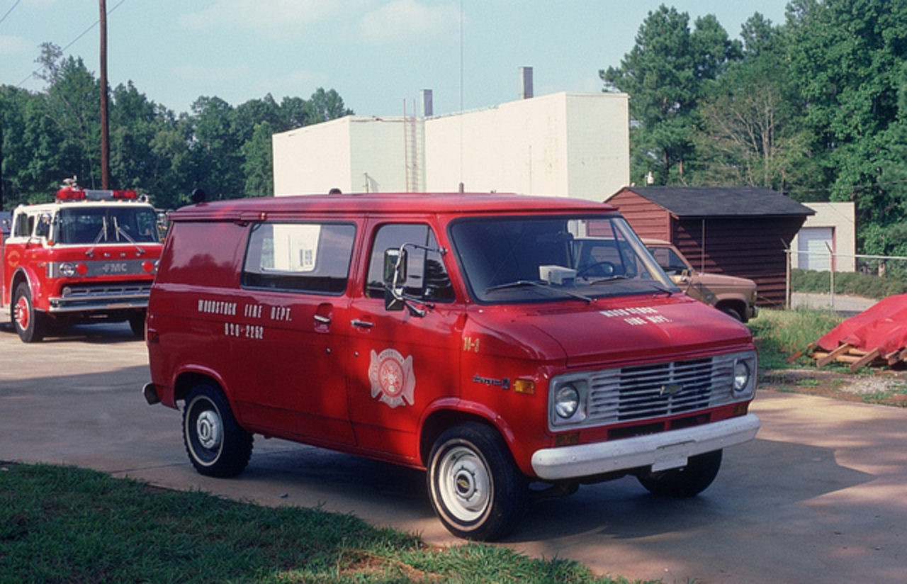 Woodstock(GA FD Rescue 14-3 is a 1979 Chevrolet Chevyvan 20 light rescue