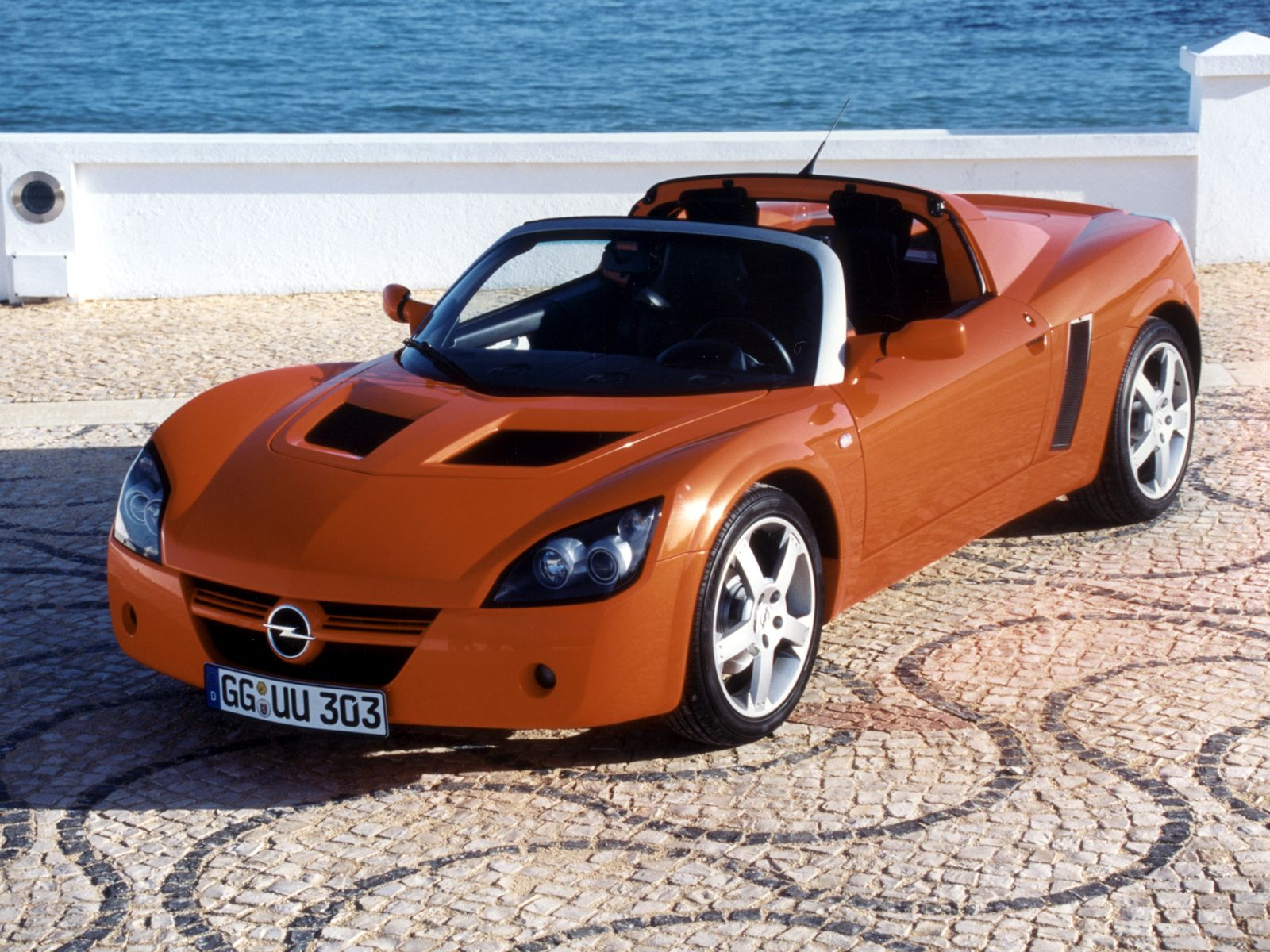 The Opel Speedster Convertible Orange Color Car Photo