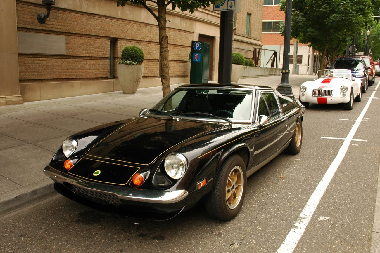 OLD PARKED CARS.: 1973 Lotus Europa Special.