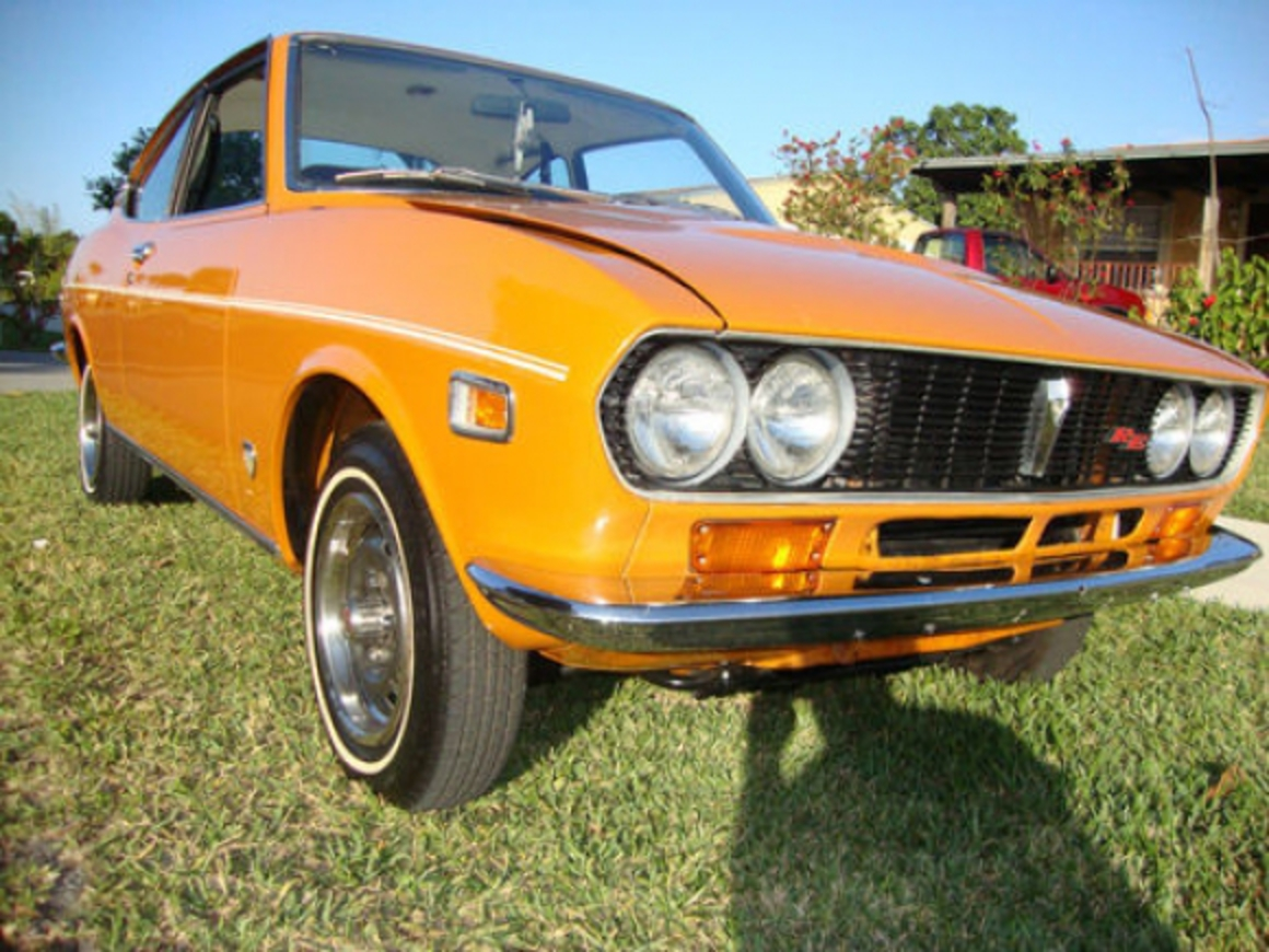 This 1973 Mazda RX-2 coupe is said to have original paint and 82k miles.