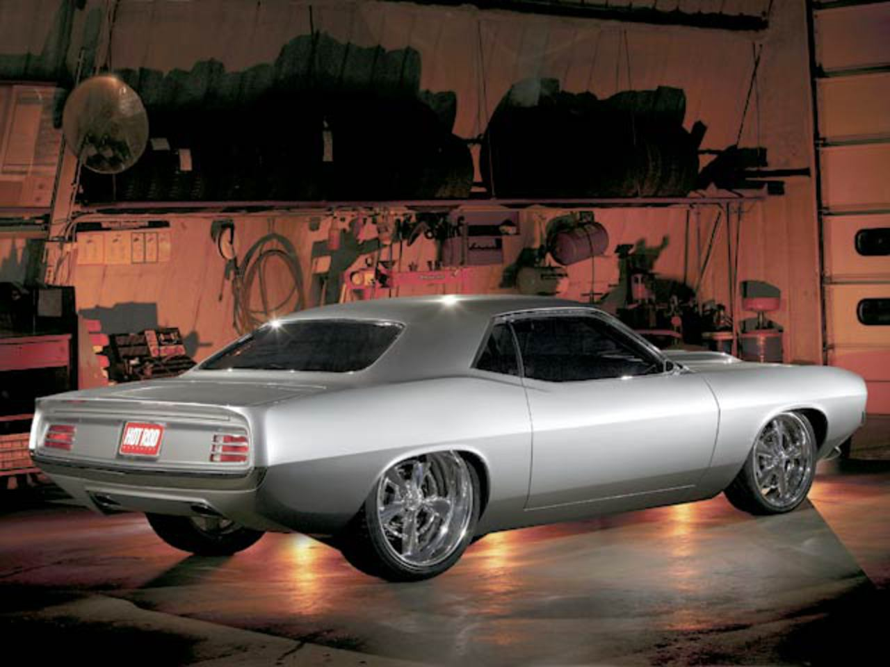 un Plymouth Barracuda de 1970, pertenece a Joe Rogan,un afamado