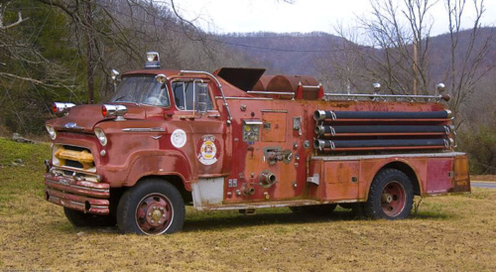 1957 Chevrolet Fire Truck by jimhughesphotography