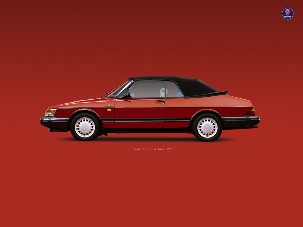 Saab 900 conv. Wallpaper (59Kb) 1024 x 768 pixels
