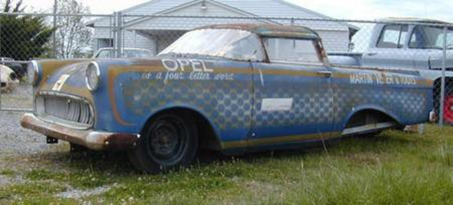 A friend of his had bought this funky Opel (a 1959 Opel Rekord P1 Caravan)