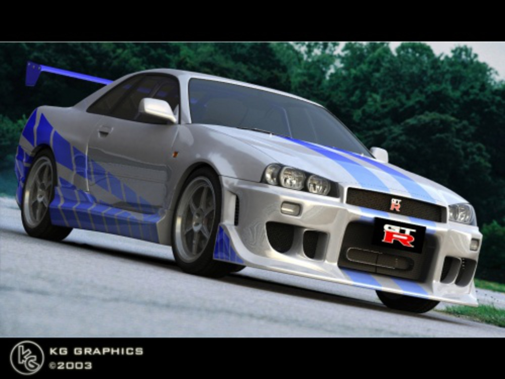 Photo from: 2Fast 2Furious Nissan Skyline GT-R R34 3D Model - Falling Pixel