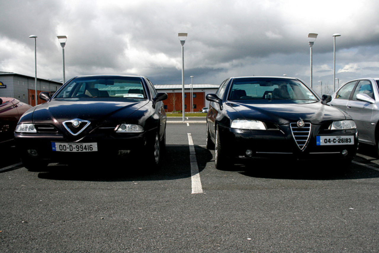 Alfa 166 and facelift | Flickr - Photo Sharing!