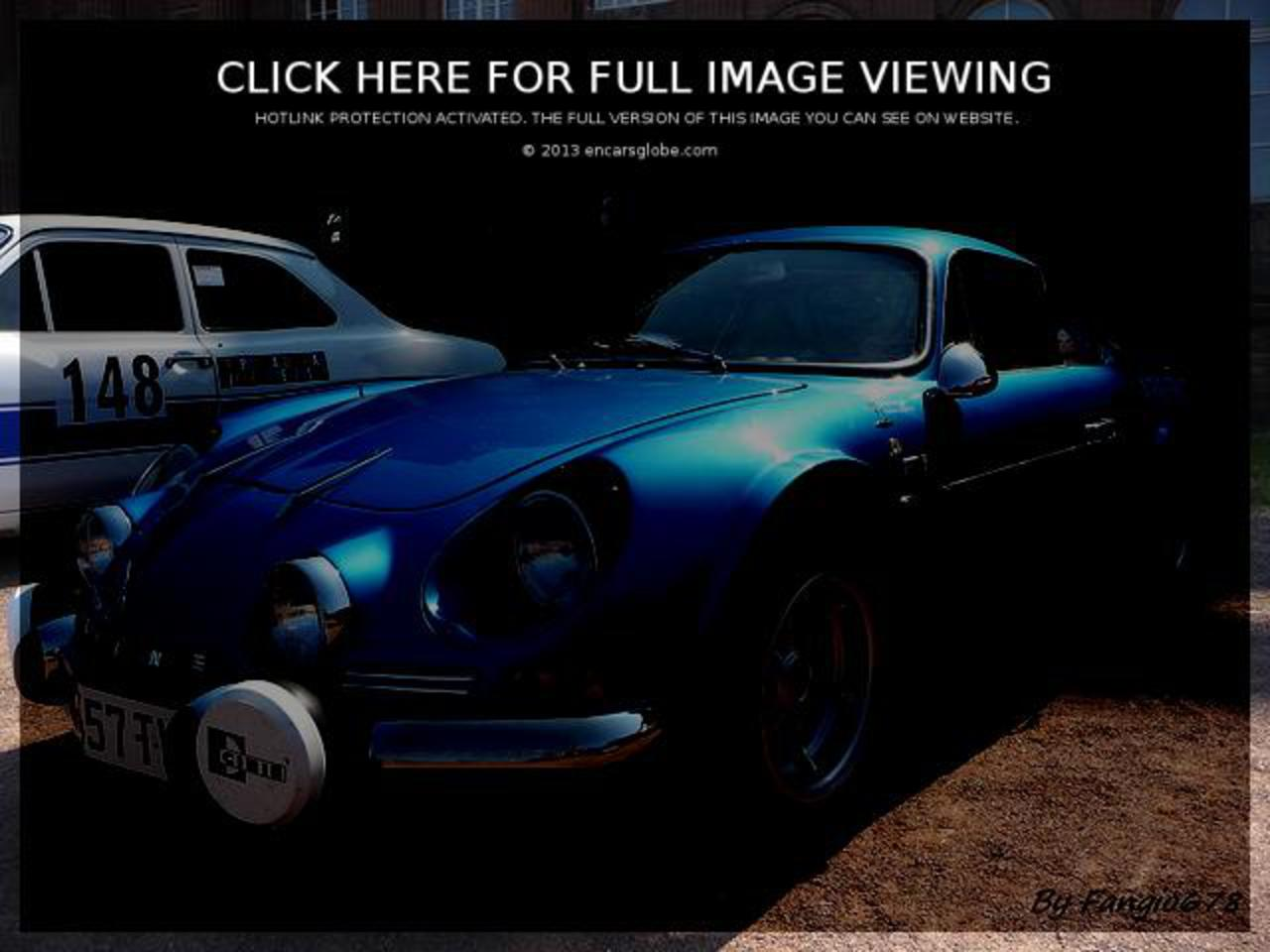 Alpine A110 Berlinette 1600 S: Photo gallery, complete information ...